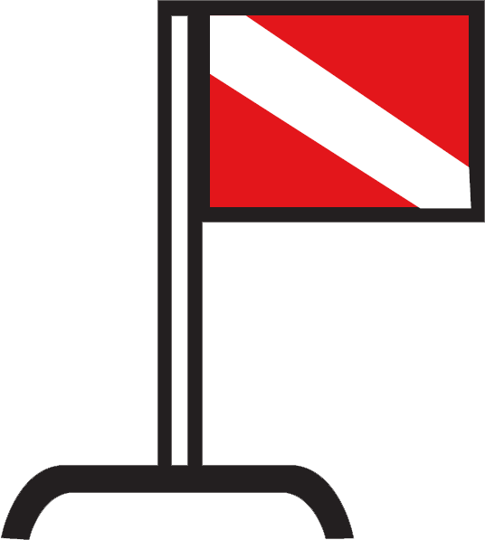 Diver flag illustration