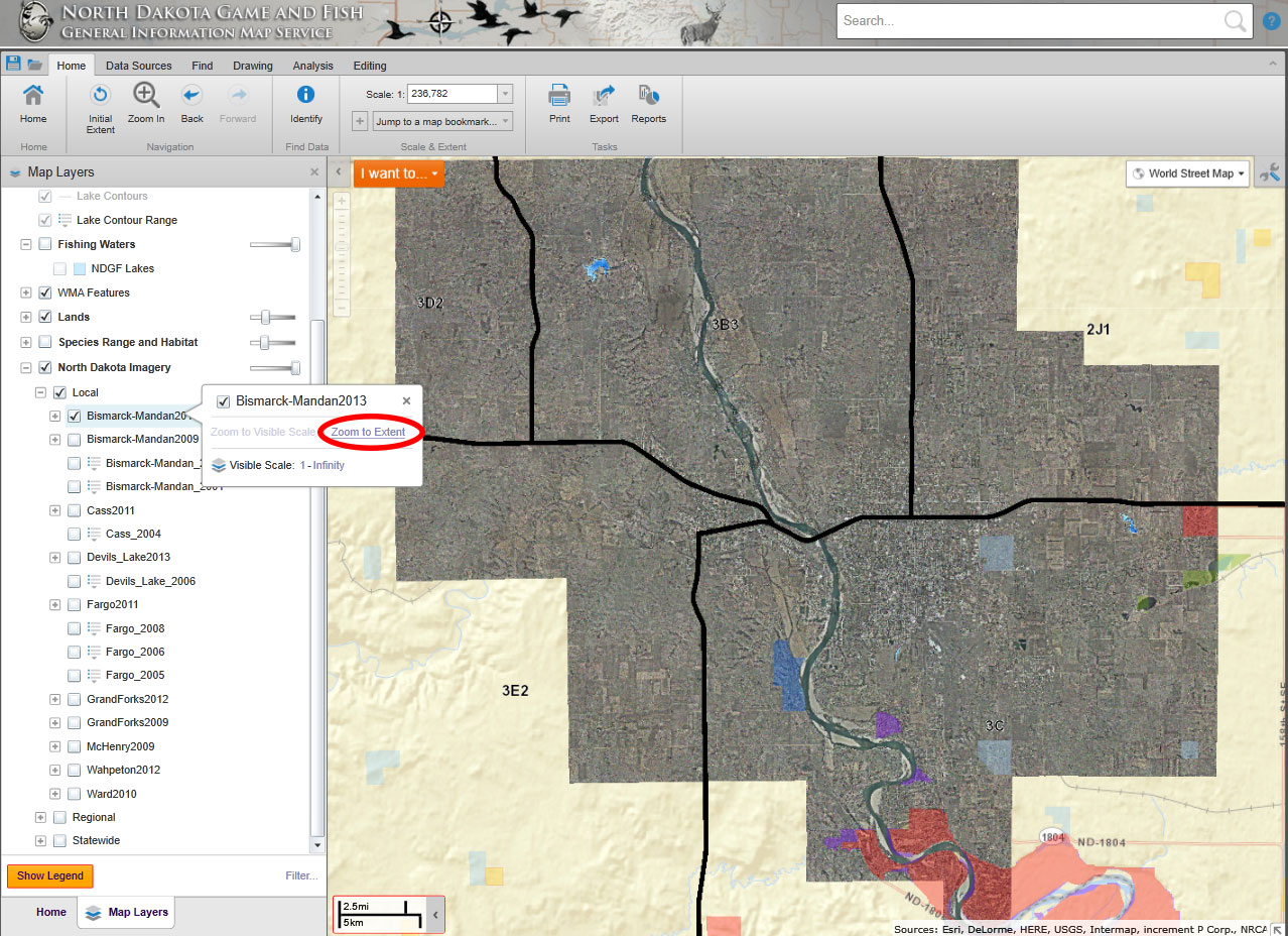 How to customize a map north dakota game and fish for North dakota fishing license
