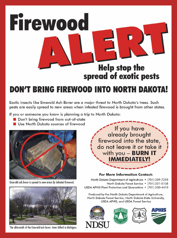 Firewood Alert-Help stop the spread of exotic pests