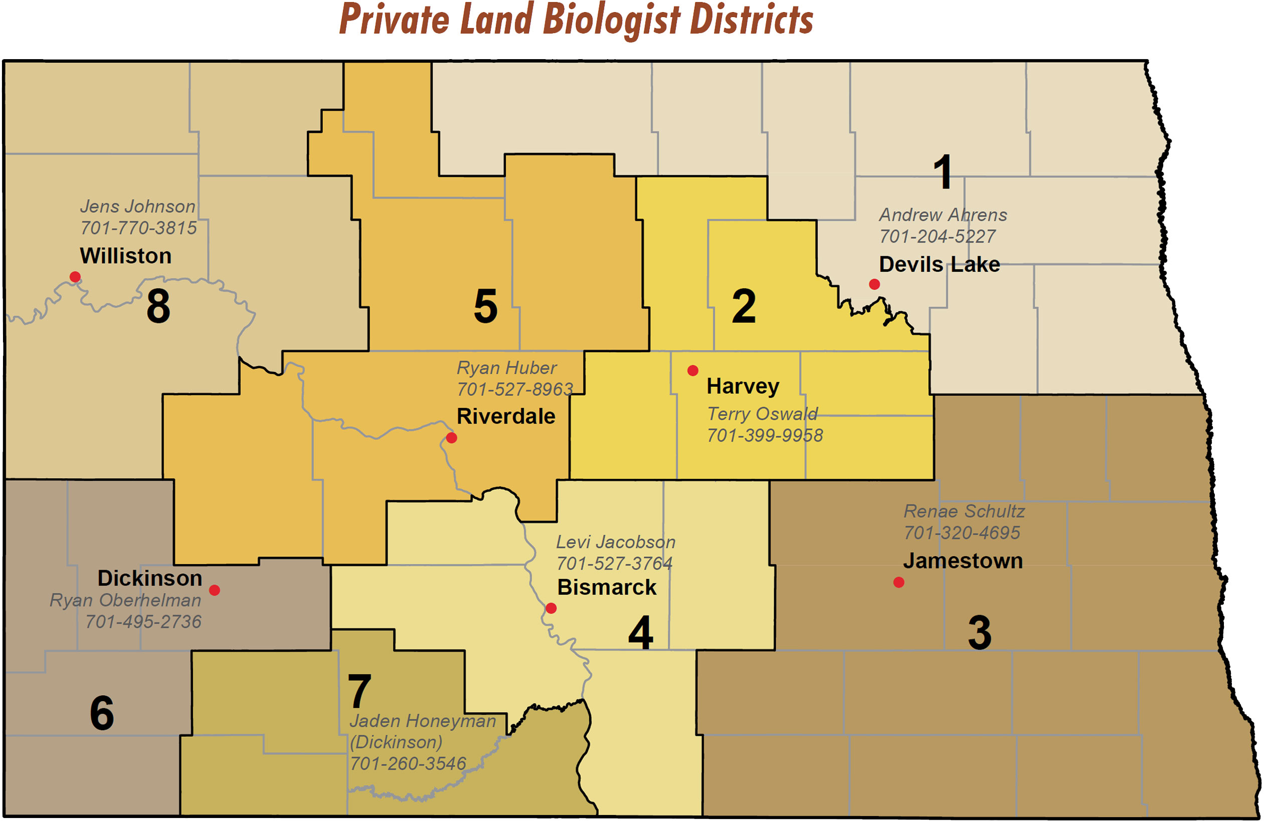 Private Land Biologist Districts