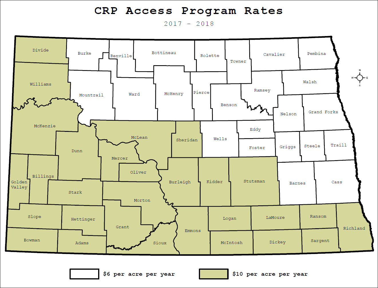 Access rates map