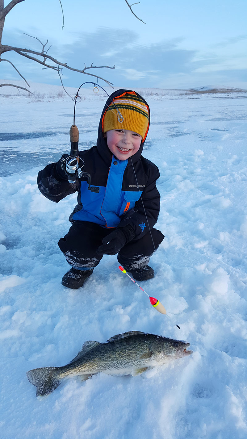 Prairie walleye lakes pike highlight winter fishing for North dakota ice fishing