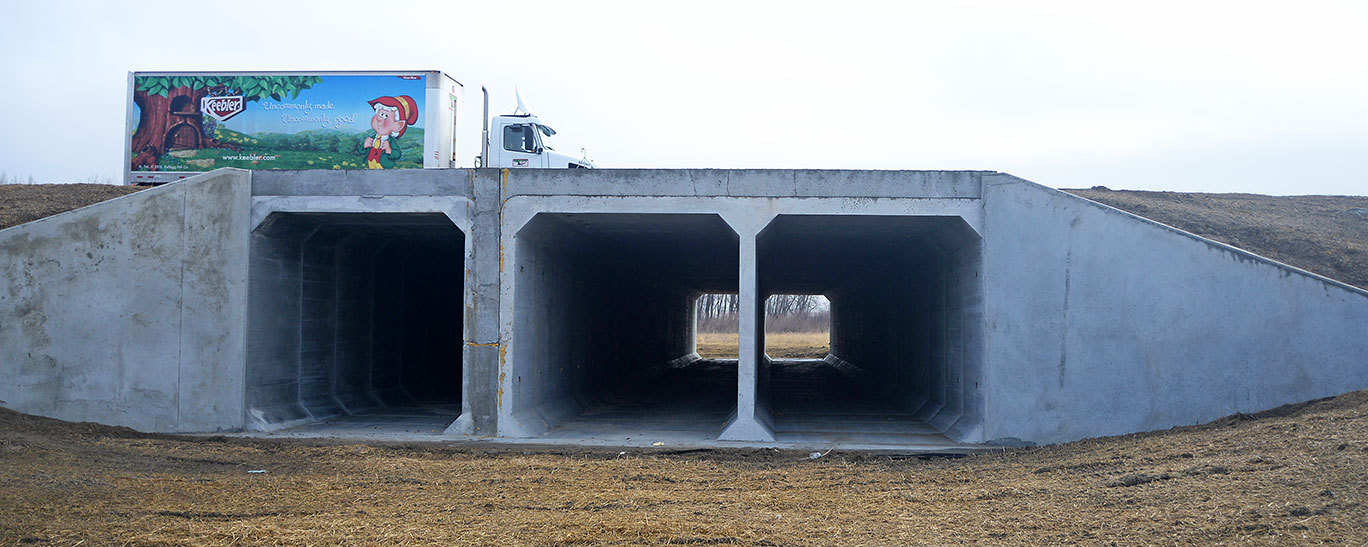 An underpass designed for wildlife near Williston offers moose,