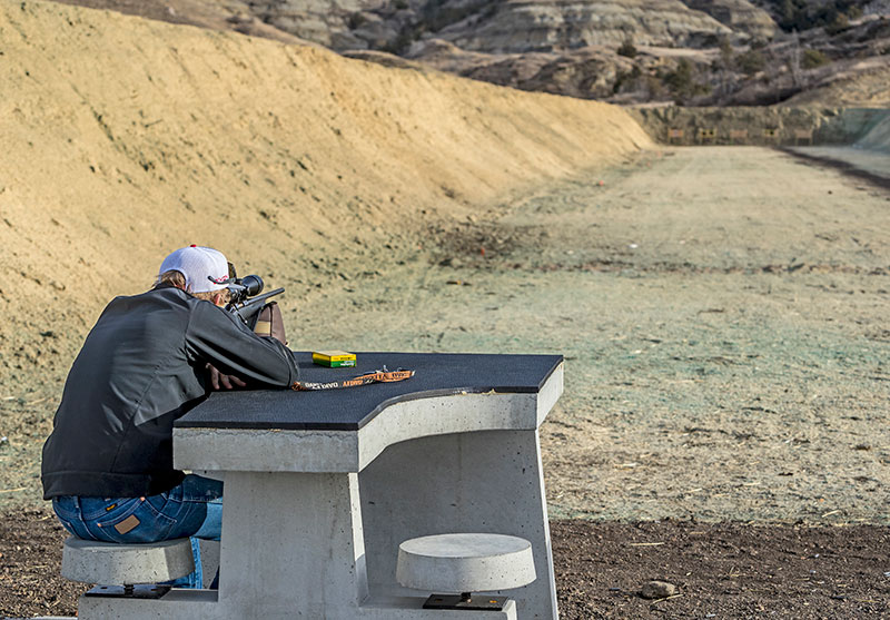 Shooter at Lewis and Clark WMA range