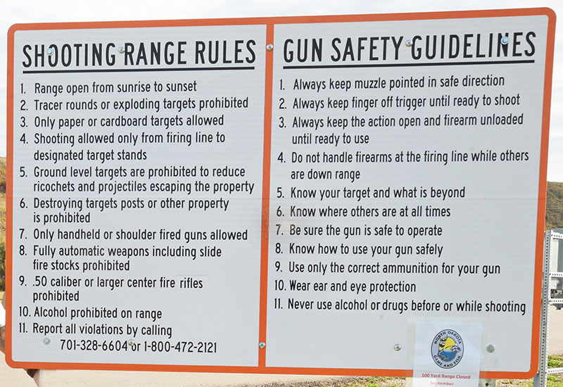 Range rules sign