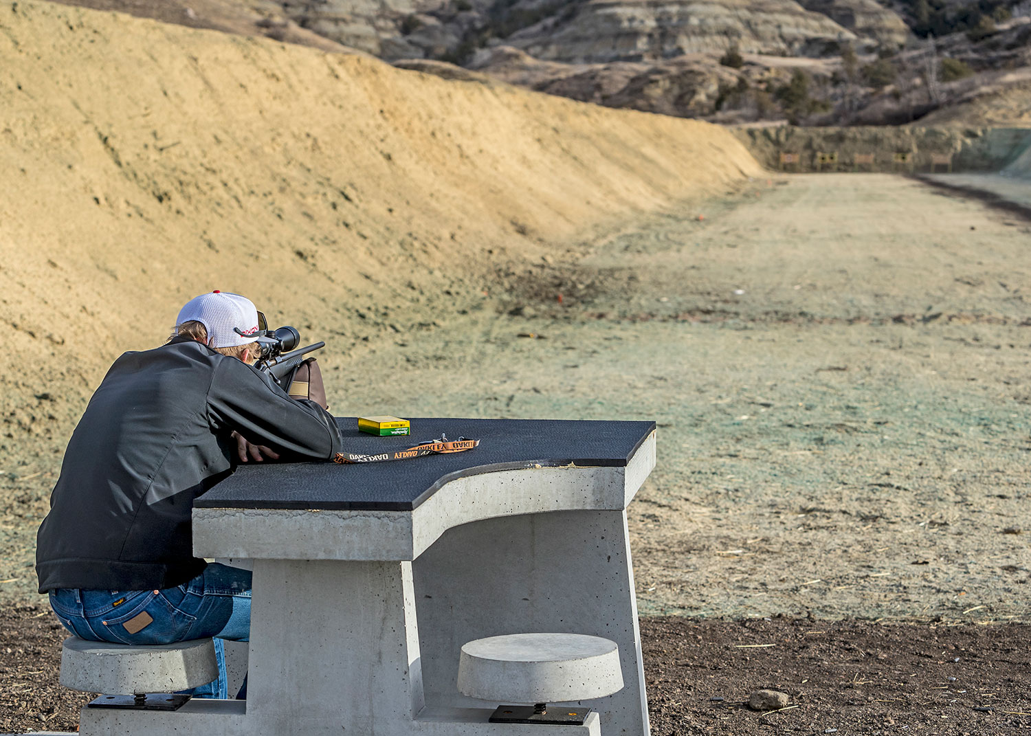 Person using shooting range