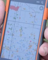 PLOTS map displayed on a smartphone