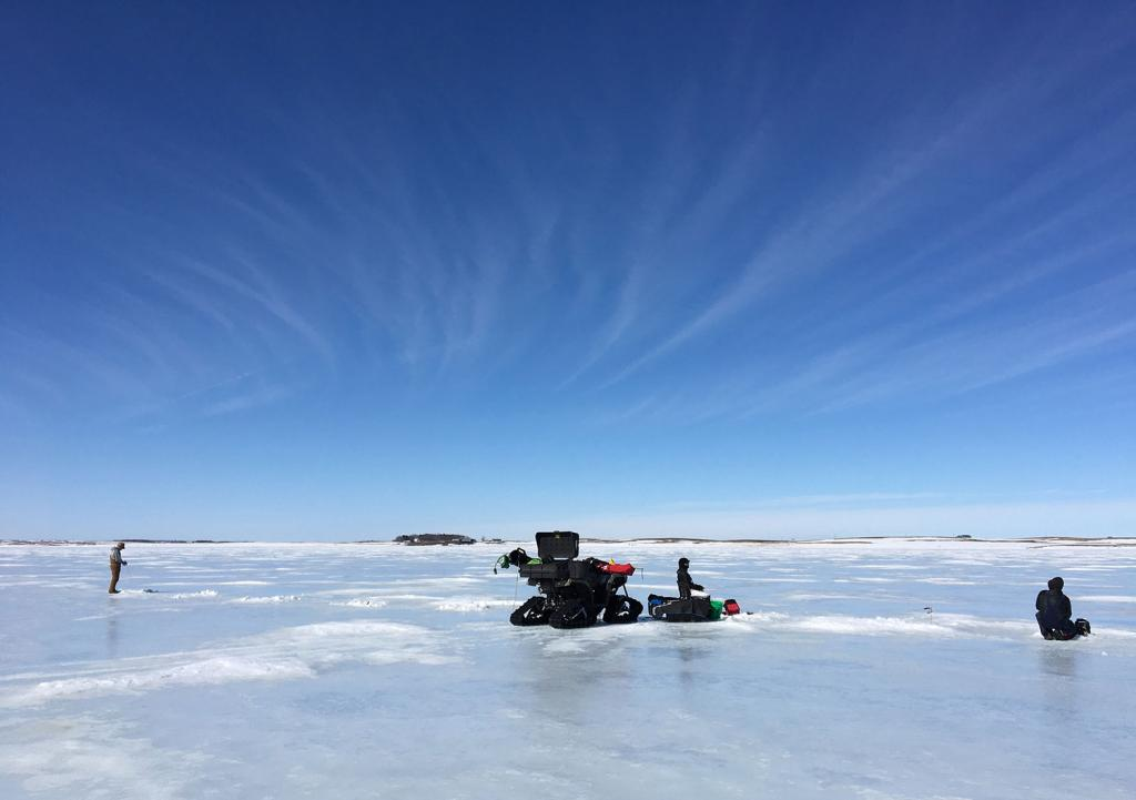 Intrepid anglers are out enjoying some late season ice fishing before spring melts lake ice. The transition from frozen to open water is often a good time for ice fishing, but it's also a time for extra caution to make sure the ice is safe.