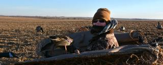 Youth hunting waterfowl