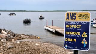 ANS sign at boat ramp