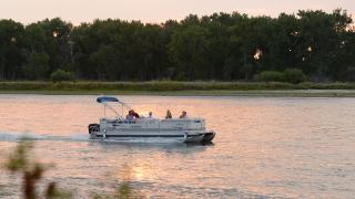 Boaters on Missouri River