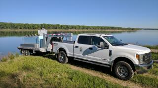 Fish stocking truck and trailer